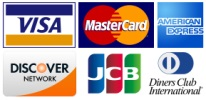 Accettasi Visa, Mastercard, American Express, Discover, JCB, Diners